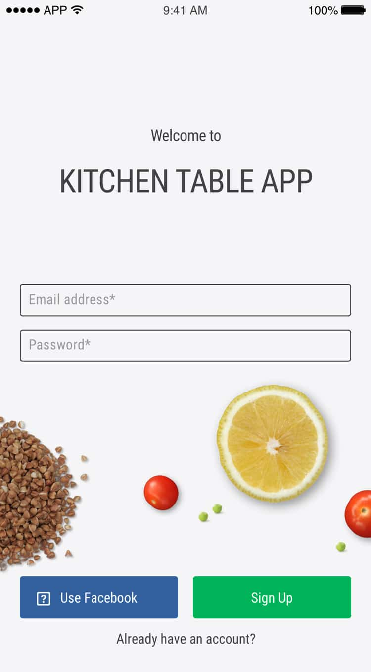 kitchen table dining mobile app login
