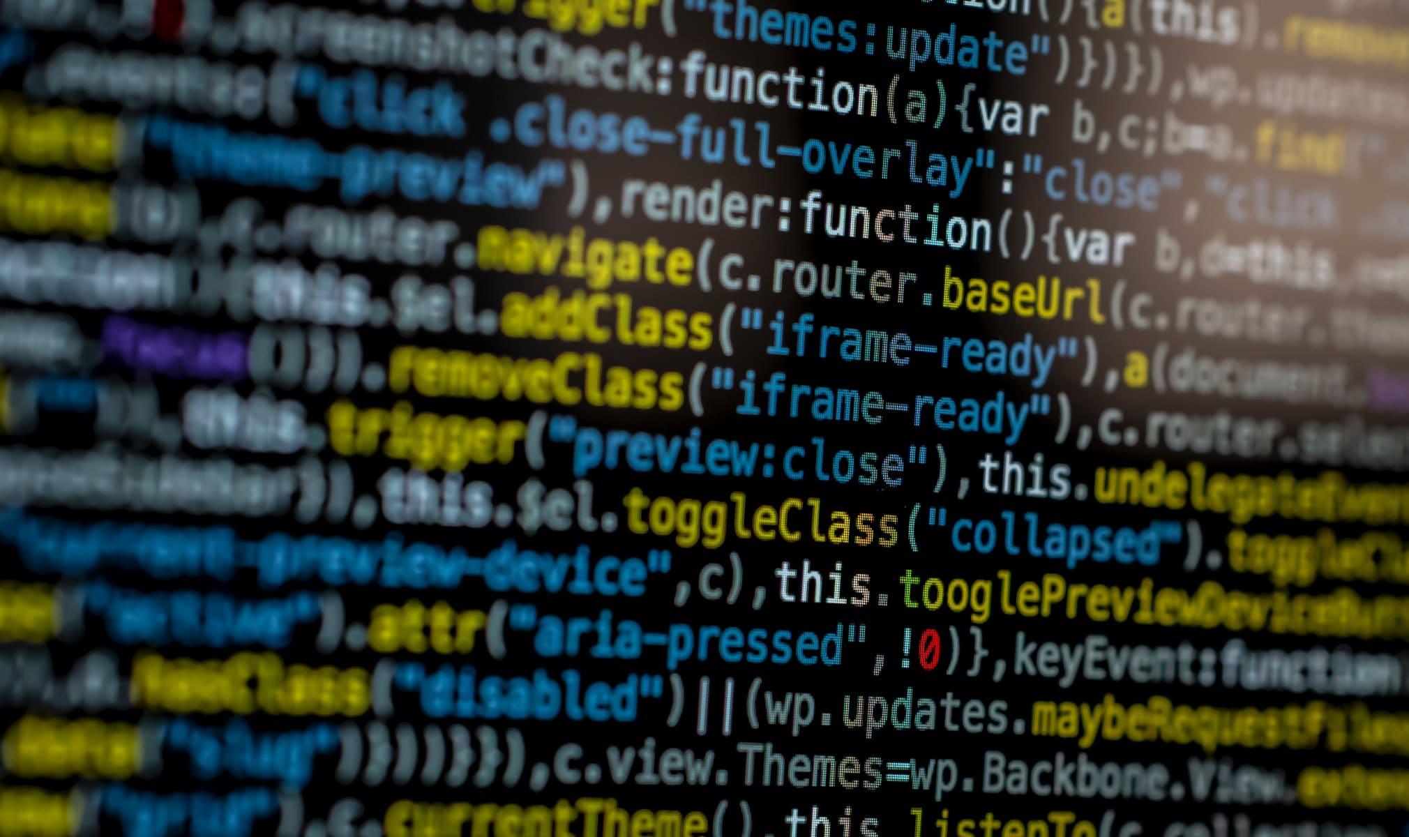 A screen full of code