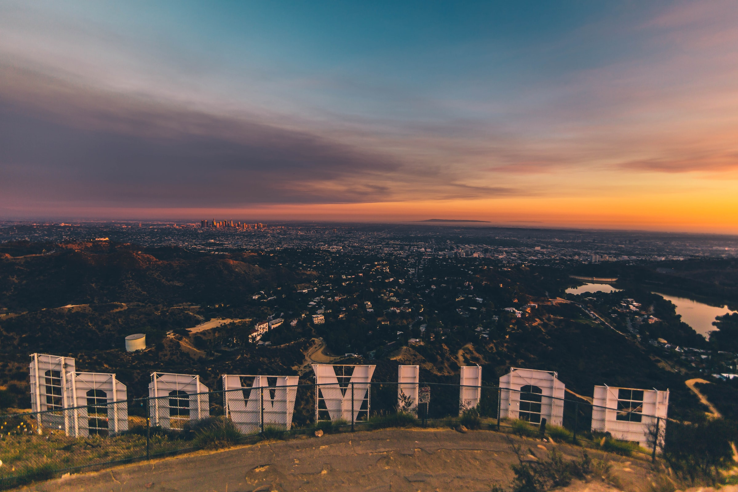 Skyline of Hollywood