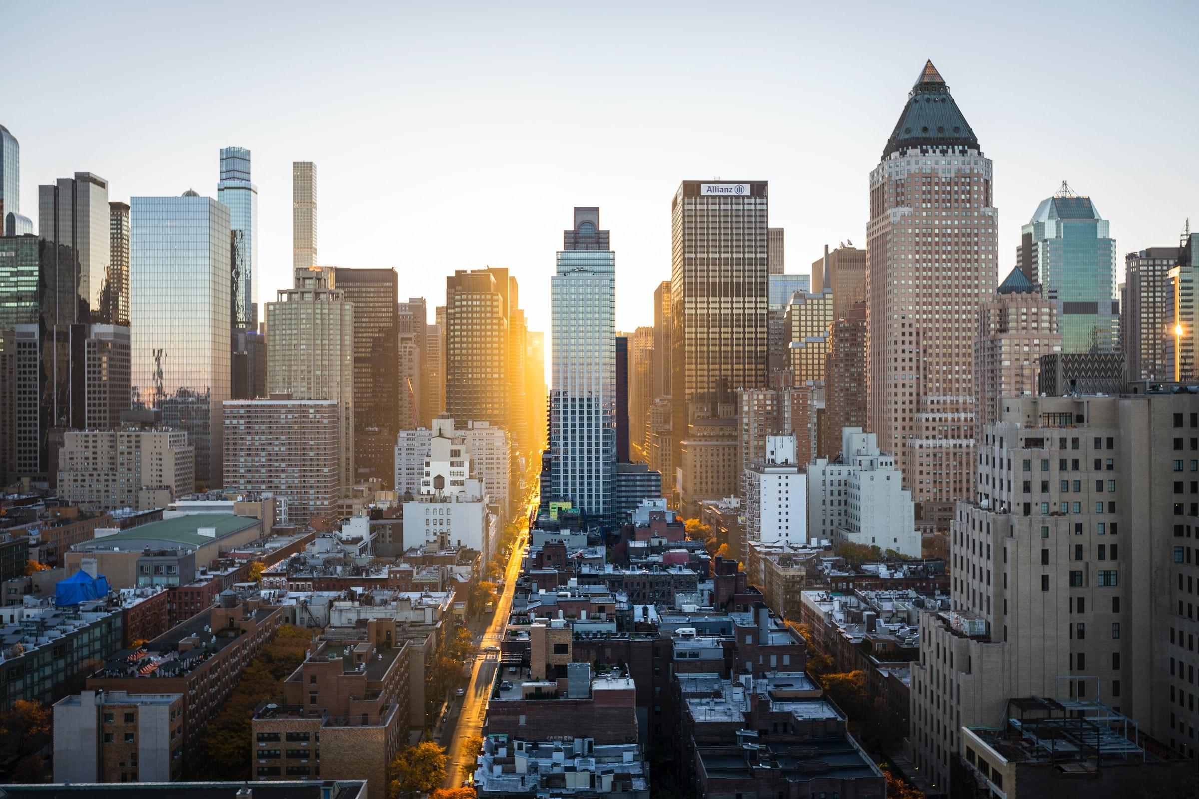 A skyline of New York
