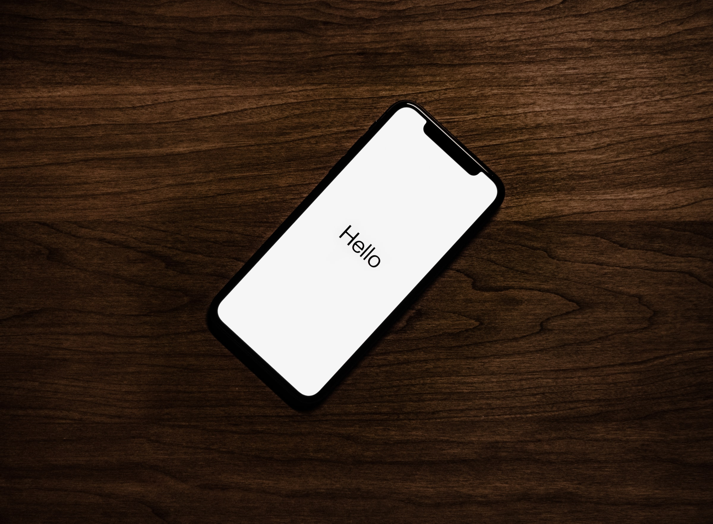 A iphone on a table