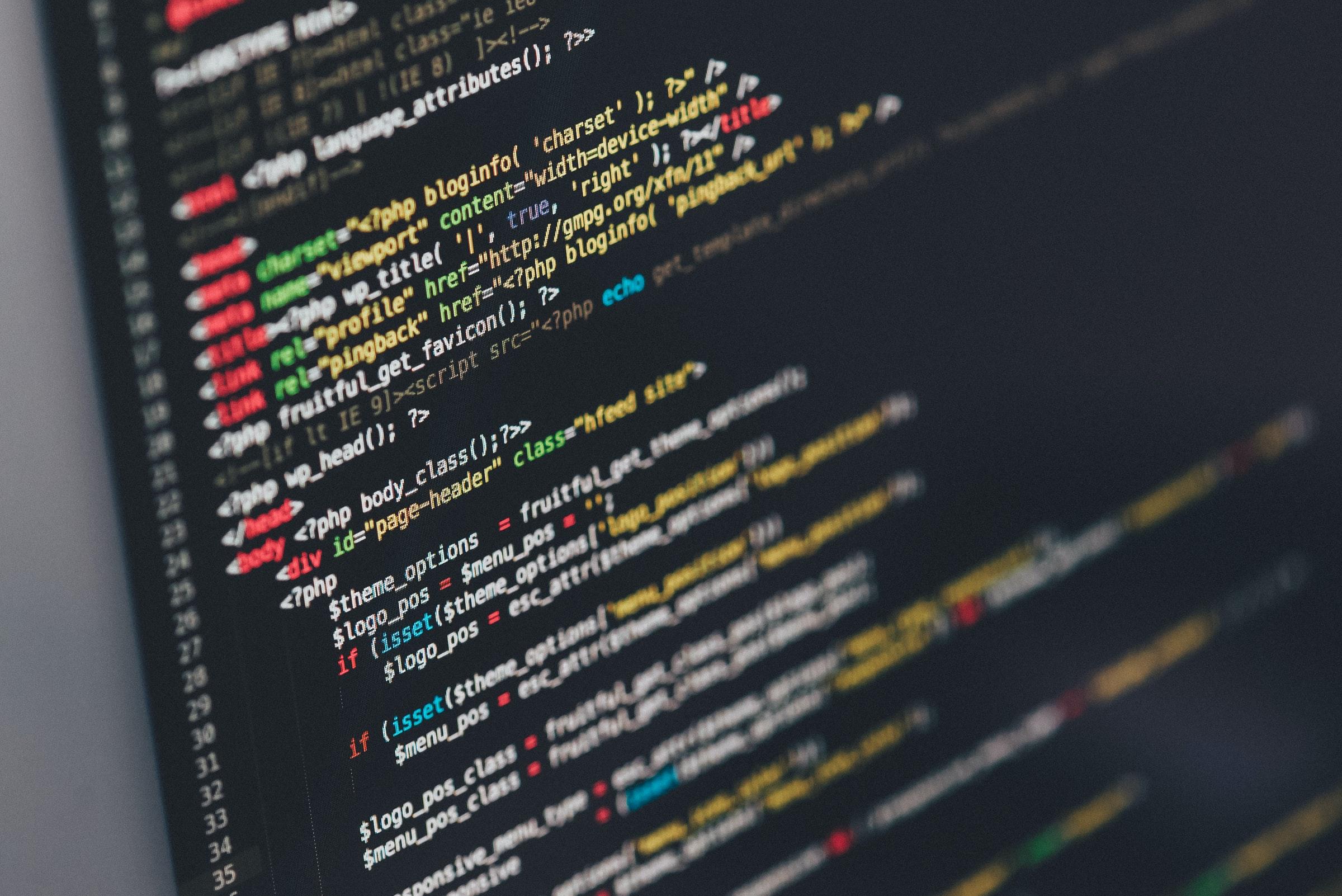 A screenshot of computer code
