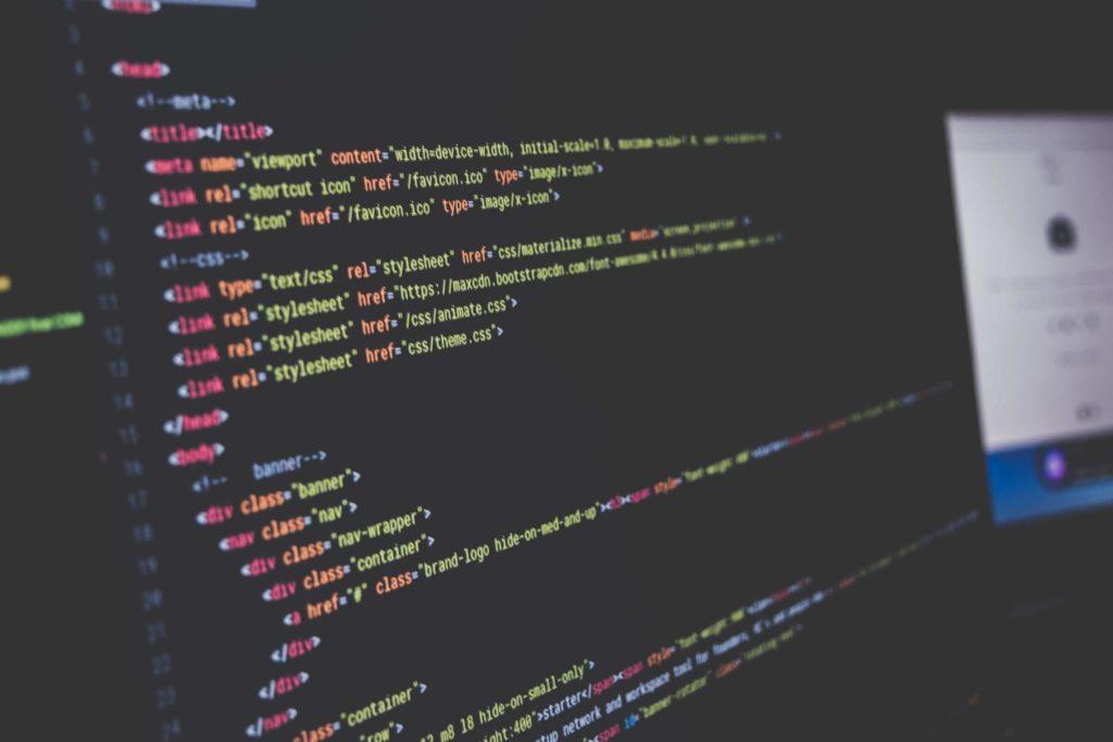 A coding screen