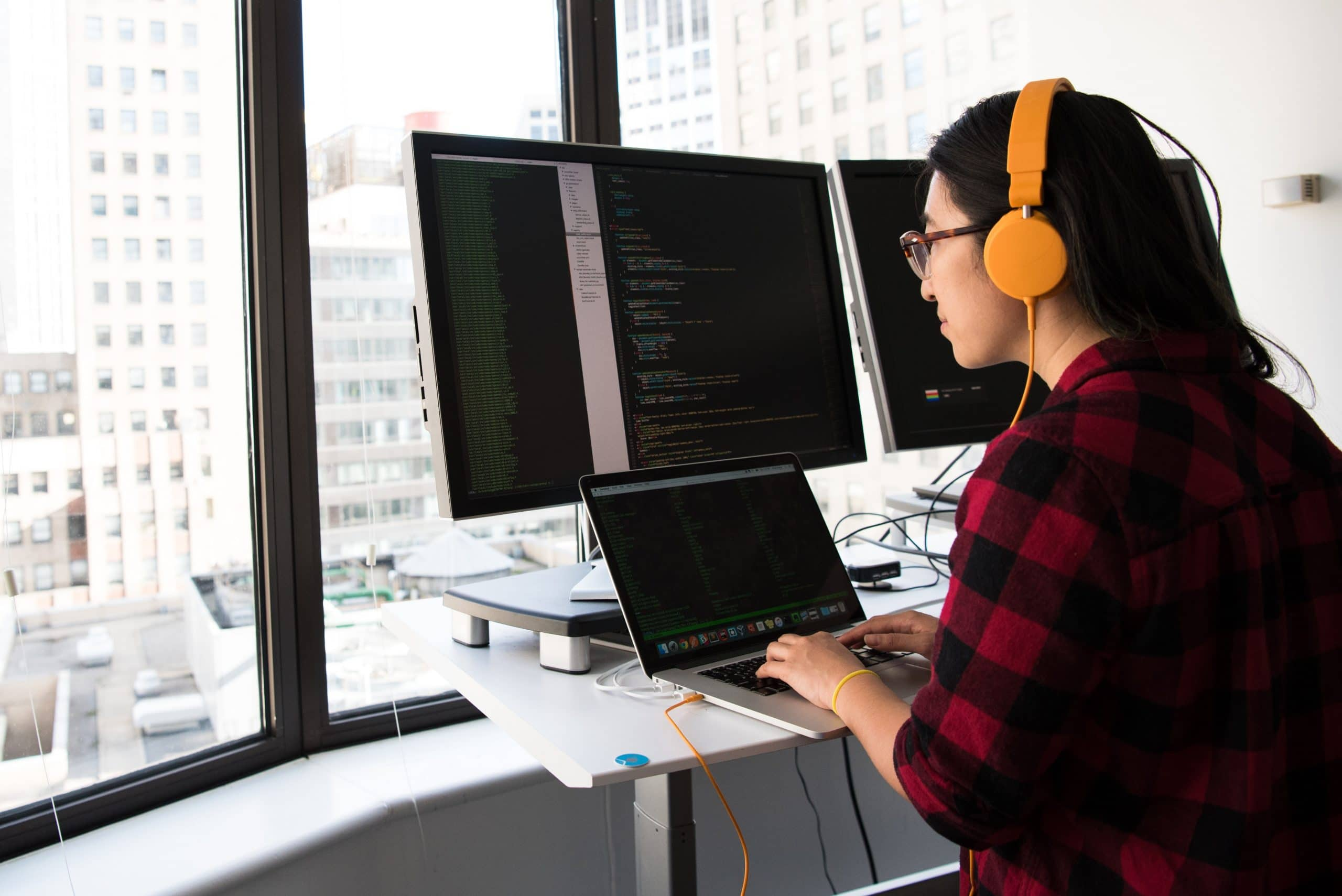 software programmer at computer